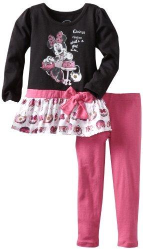 Disney Girls 2-6X Toddler 2 Piece Minnie Mouse Whats A Girl To Do Legging Set
