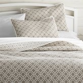 Crate & Barrel Raj Reversible Khaki Quilts and Pillow Shams