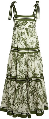Zimmermann Empire Floral Cotton Maxi Dress