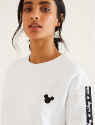 Disney George Mickey Mouse Logo Tape Sweatshirt