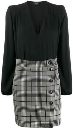 Liu Jo glen check short dress