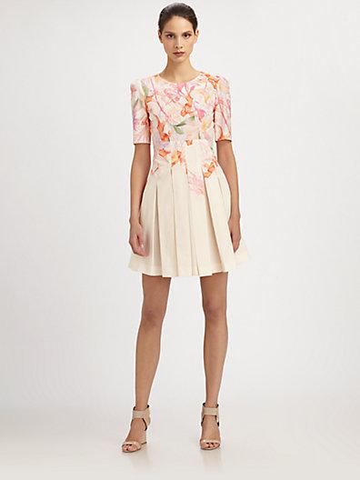 Cacharel Pleated A-Line Dress