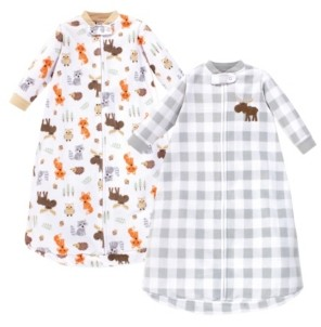 Hudson Baby Baby Girls and Boys Woodland Long-Sleeve Fleece Sleeping Bag, Pack of 2