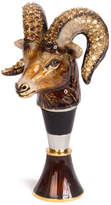 Jay Strongwater Ryker Ram Wine Stopper Stand