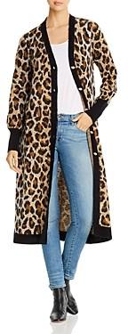 Marled x Olivia Culpo Leopard Print Duster Cardigan