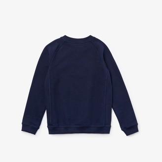 Lacoste Boys Embroidered Croc Cotton Graphic Sweatshirt