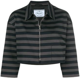 Prada Pre Owned Stripe Cropped Jacket