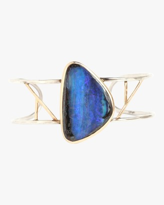 Melissa Joy Manning Boulder Opal Freeform Two Bar Cuff Bracelet
