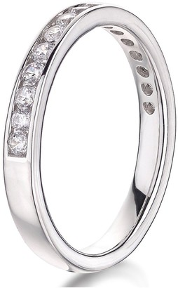 Love Diamond 9ct White Gold 40pt Diamond Channel Set 2.5mm Wedding Band