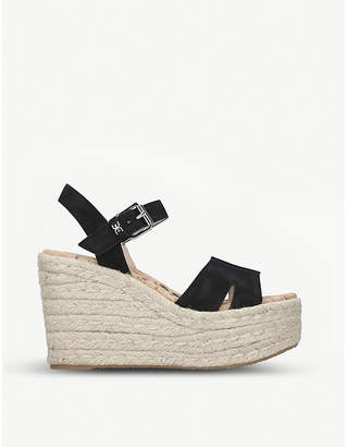 Sam Edelman Maura leather espadrille wedge sandals