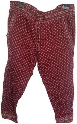 Etoile Isabel Marant Burgundy Cotton Trousers for Women