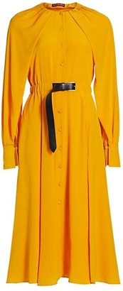 Altuzarra Liana Belted Silk Shirtdress