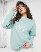 Thumbnail for your product : New Look tennis club sweatshirt in light green