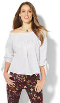 New York & Co. 7th Avenue - Madison Stretch Shirt - Off-The-Shoulder