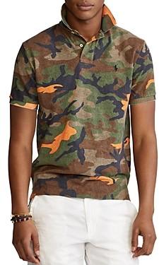 Polo Ralph Lauren Custom Slim Fit Mesh Camo Polo Shirt