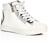Steve Madden Girls' Glitter Peace Sign High Top Sneakers - Little Kid, Big Kid