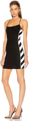 Off-White Diagonal Athletic Dress in Black & White | FWRD