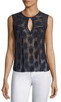 Rebecca Taylor Selena Embroidered Silk Top