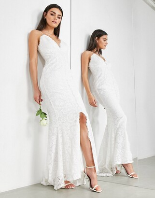 Asos Edition EDITION lace cami wedding dress-White