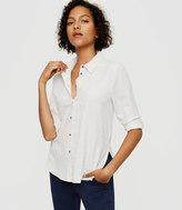 Lou & Grey Heathered Button Down Shirt
