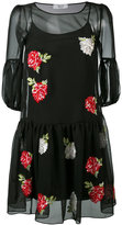 Blugirl embroidered flower dress - women - Polyester/Viscose - 42