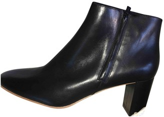 Loeffler Randall Black Leather Ankle boots