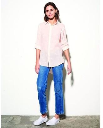Sundry Pink Hearts Shirt - S