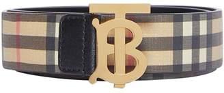 Burberry 35mm Tb Vintage Check Leather Belt
