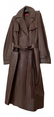 HUGO BOSS Brown Leather Coats
