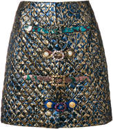 Dolce & Gabbana brocade crystal buckled skirt