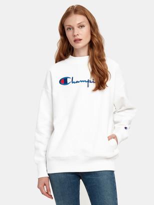 Champion Reverse Weave Big Script Oversized Crewneck Sweatshirt