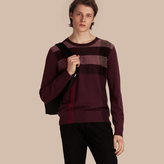 Burberry Graphic Check Cashmere Cotton Sweater