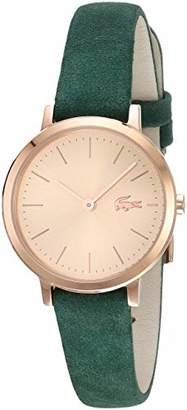 Lacoste Women's Moon Small Stainless Steel Quartz Watch with Leather Strap
