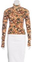 John Galliano Cashmere Abstract Print Sweater