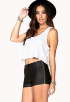 Forever 21 Standout Faux Leather Shorts
