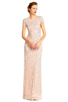 Adrianna Papell Scoop Back Long Dress
