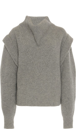 Isabel Marant Poppy Cowl-Neck Wool-Cashmere Sweater