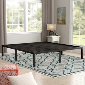 """16"""" Metal Steel Bed Frame Alwyn Home Size: Full"""