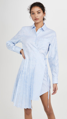 Off-White Waves Wrap Panel Shirt Dress