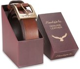 "Hawkdale Men's Leather Belt - 1.25"" (30mm) # HD-819-400 - Brown, XXL- Boxed"
