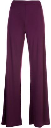Natori long flared trousers