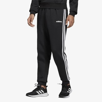 adidas Athletics Essential 3 Stripe Fleece Jogger Pants - Black / White