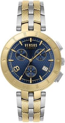 Versus Men's Quartz Chronograph Two-Tone Bracelet Watch, 44mm