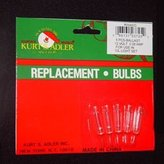 Kurt Adler 12/13V 0.08Amp Ul Approved Extra Bright Clear Bulbs For 10/L Strings 5Pc.