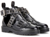 McQ by Alexander McQueen Dalston Cut-out Leather Ankle Boots
