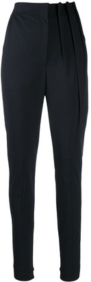 Ji Oh High Waisted Tapered Trousers