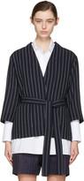 Acne Studios Navy Jada Double Pin Suit Jacket
