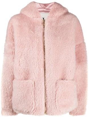 L'Autre Chose Faux Fur Blush Pink Jacket