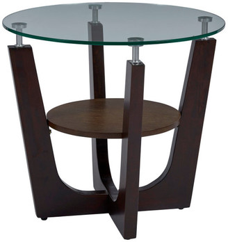 Progressive Furniture Four Points Glass End Table
