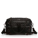 M Z Wallace Crosby Quilted Traveler Oxford Nylon Diaper Bag - Black